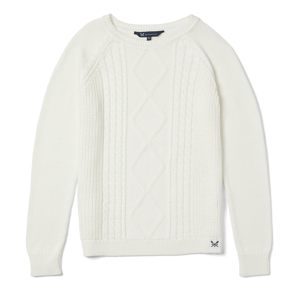Crew Clothing Raglan Cable Jumper, £55.00  Available from www.crewclothing.co.uk