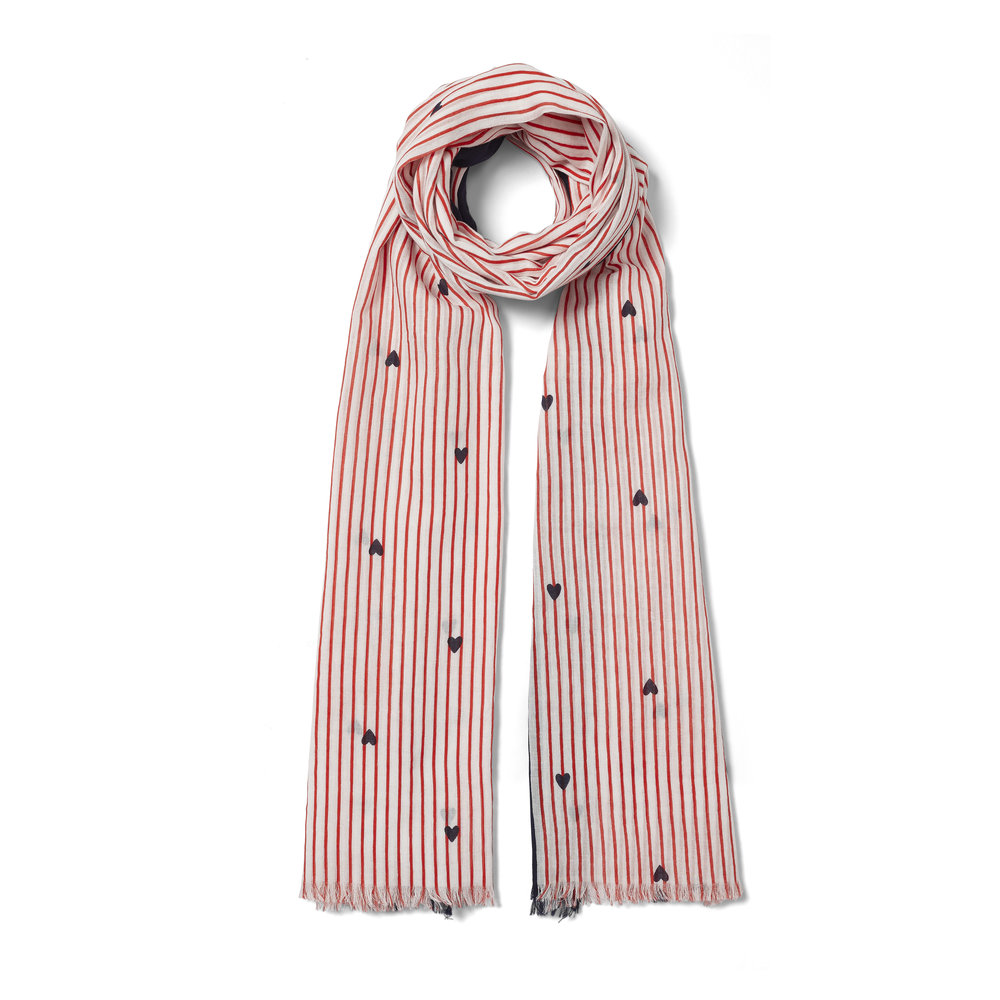 Crew Clothing Stripe Scarf, POA  Available from www.crewclothing.co.uk
