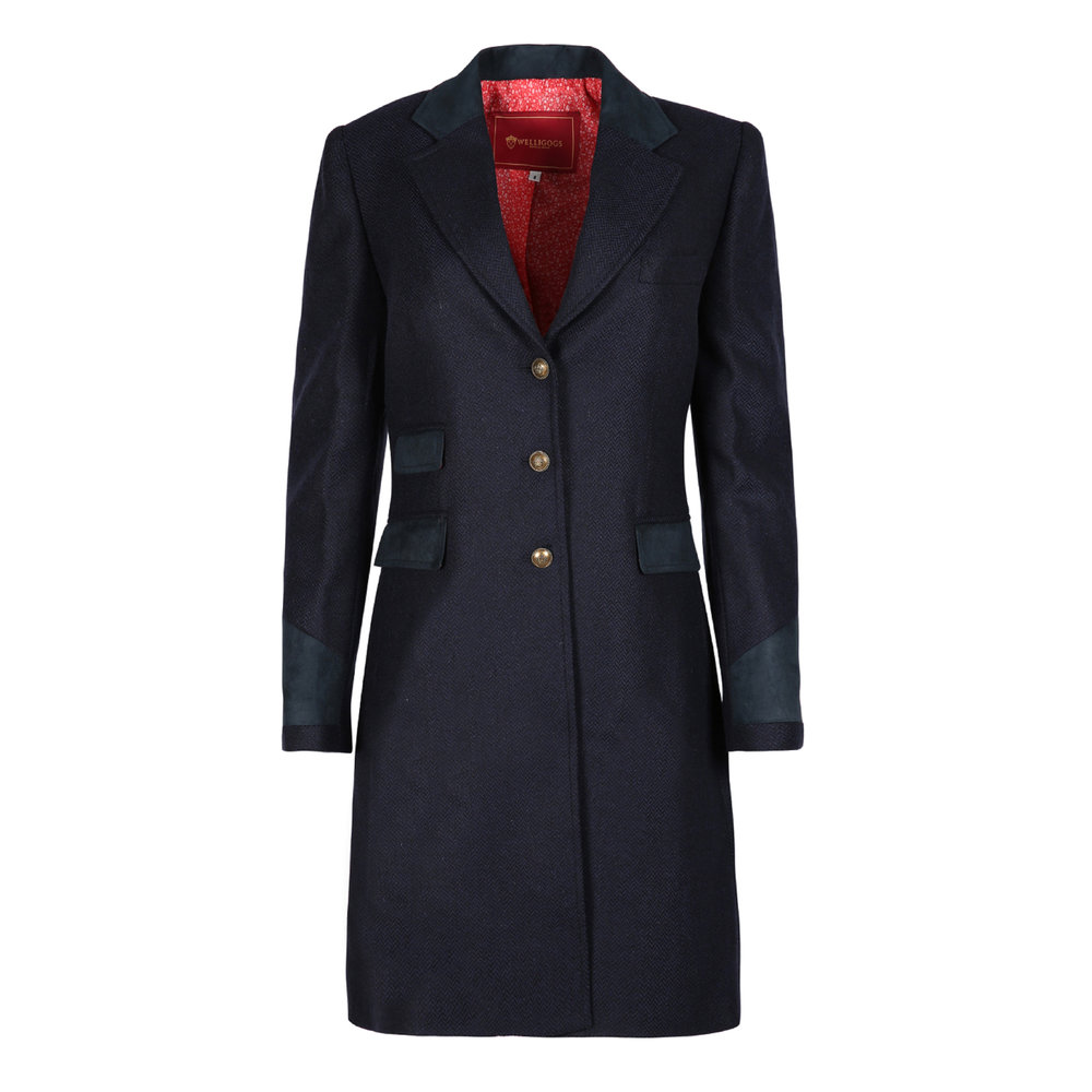 Welligogs Demelza Navy Wool Coat, £295.00  Available from www.welligogs.com