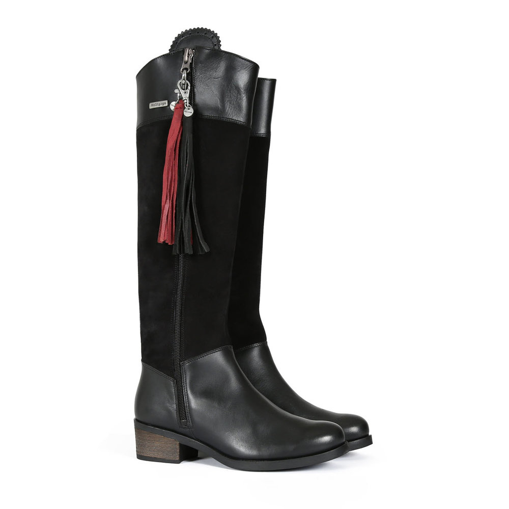 Welligogs Mayfair Black Leather & Suede Waterproof Boots, £350  Available from www.welligogs.com