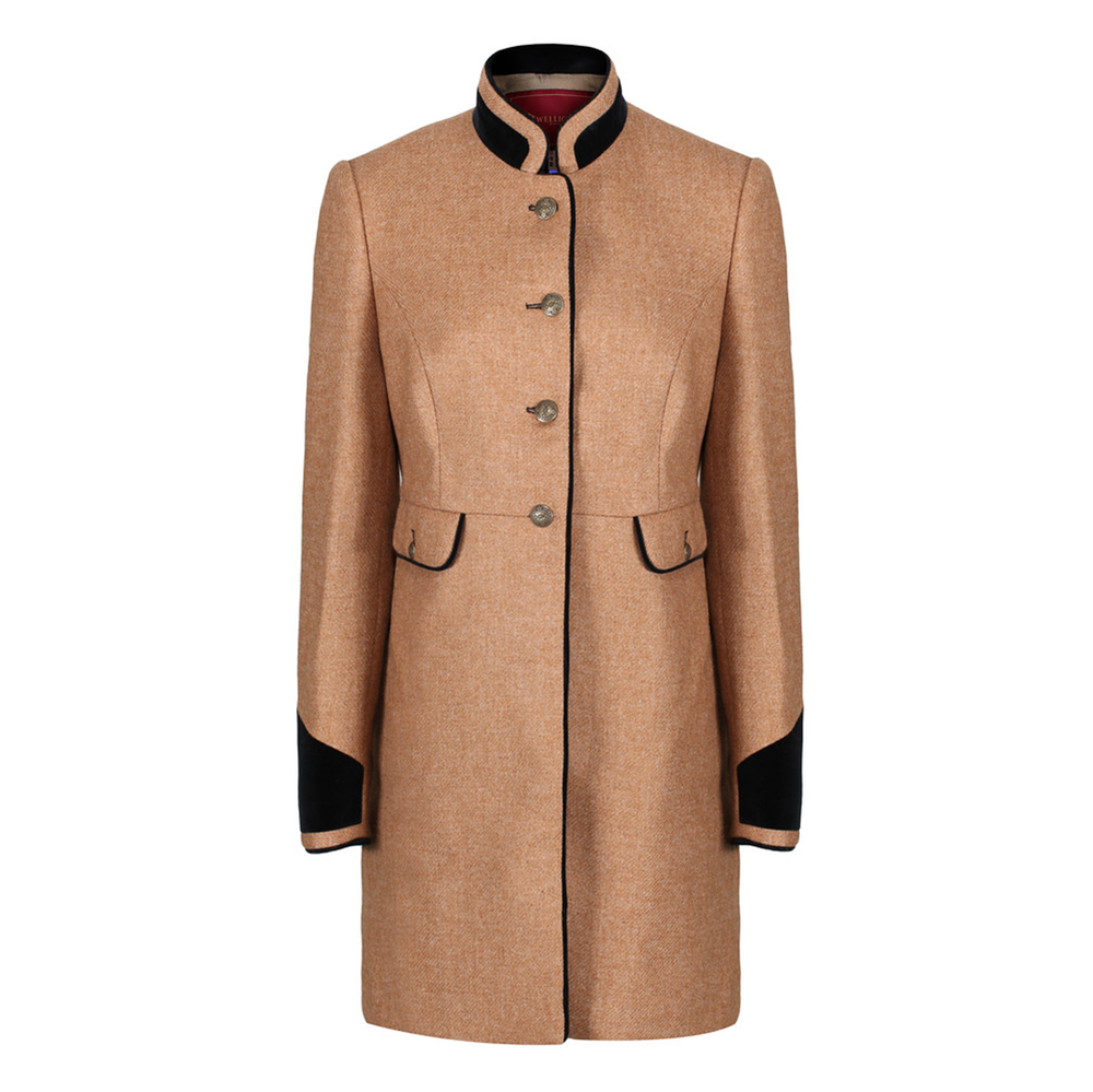Welligogs Savannah Camel Wool Tweed Coat £275  Available from www.welligogs.com