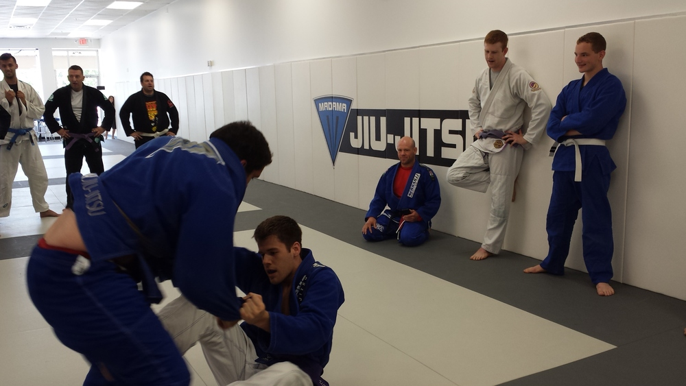 Tom Working Open Guard