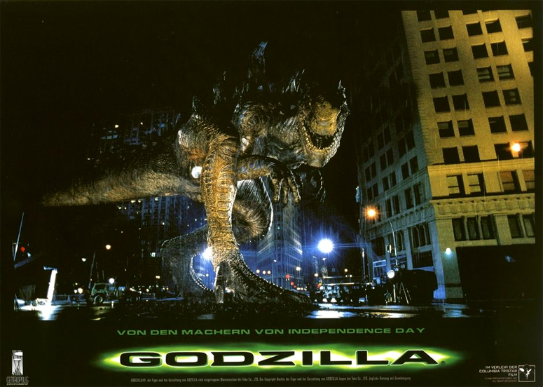 Look, man. Godzilla ain't even upright in this movie. That's not cool.