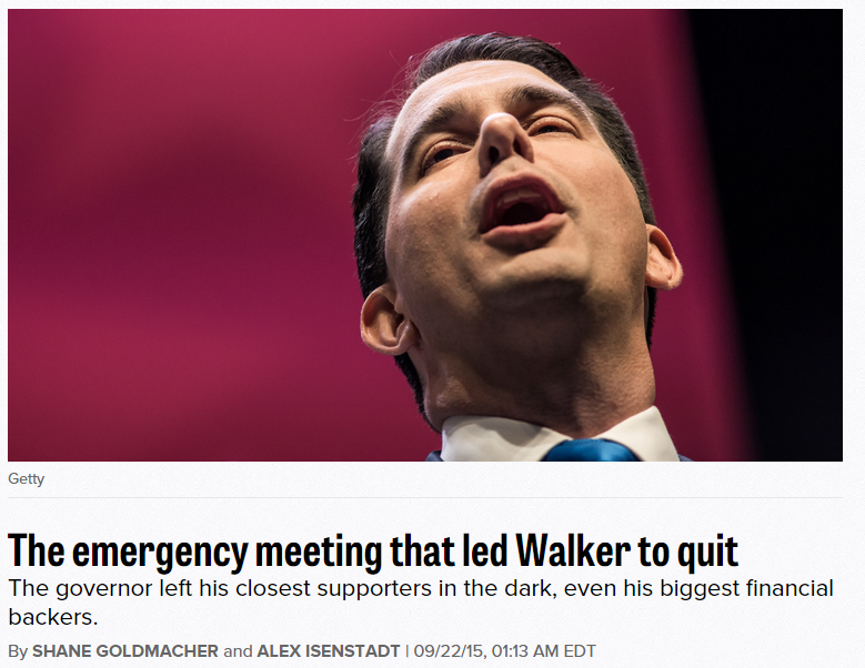 """Politico's Goldmacher & Isenstadt say the decision """"threw the power of super PACs into doubt."""" Related: Scott Walker """"was the sole author of his epic collapse"""" - The Capital Times, Madison, WI"""