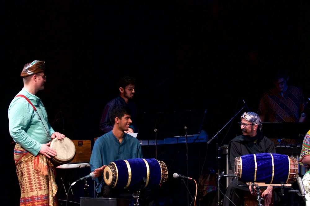 Performing with Poovalur Sriji at SMU World Music Ensemble Spring 2016 Concert in Dallas, Texas