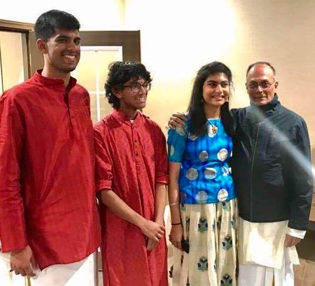After a performance with Ahi Ajayan (voice), Saketha Panthula (violin), and Sri N. Sundar (Morsing) at the 2017 Cleveland Thyagaraja Festival!