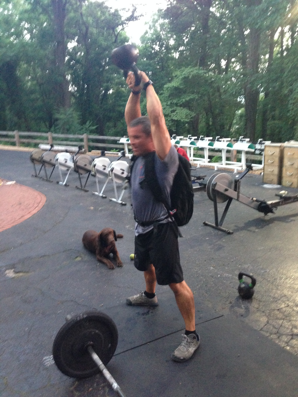 From this morning...30 lb ruck makes this extra tough