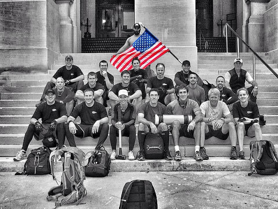 The men and women of the RRLanta at a Goruck Challenge in Atlanta.  Chip Lusk, front row center