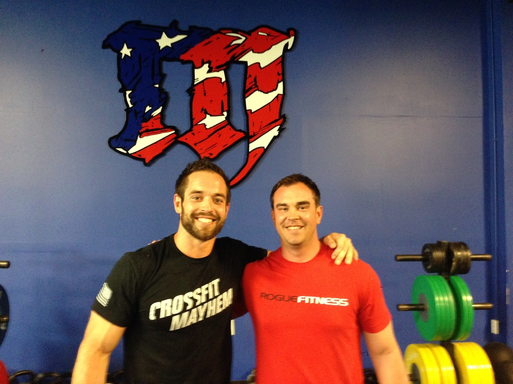 Robert Mountjoy of the RRL gets his CrossFit L1 with friend and 3 time CrossFit Games Champ, Rich Froning