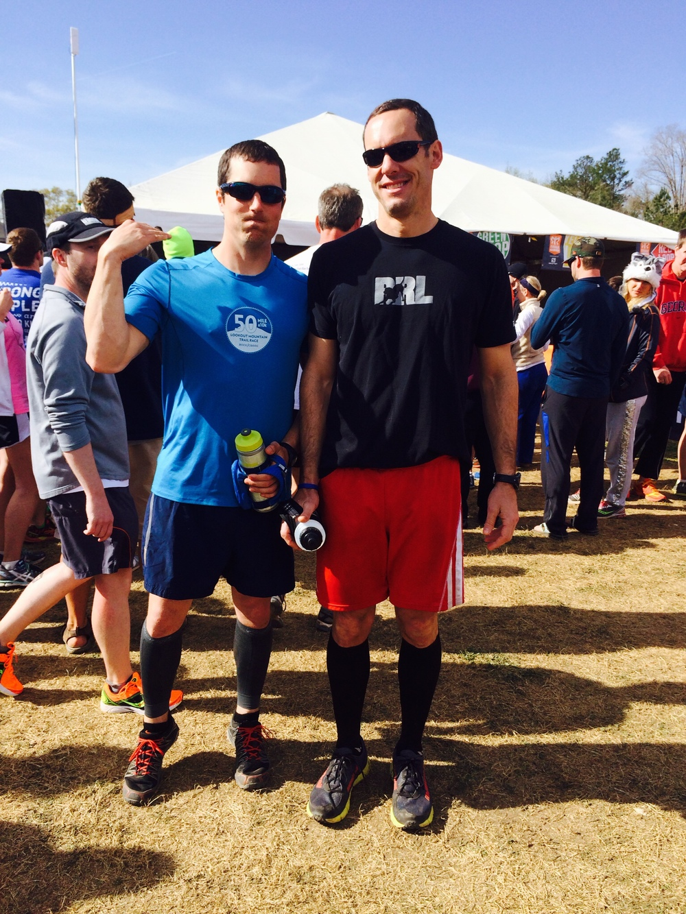 Mike and Patrick at the Ragnar Trail