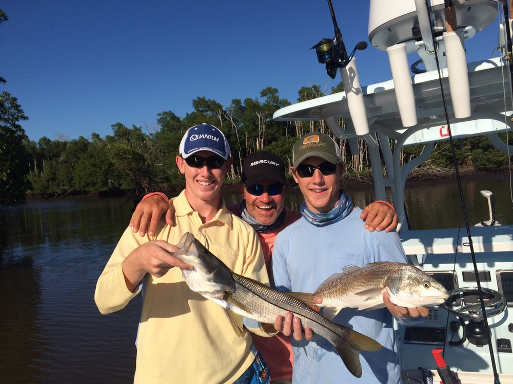 Then, Redfish and Snook for Turner and Hayden