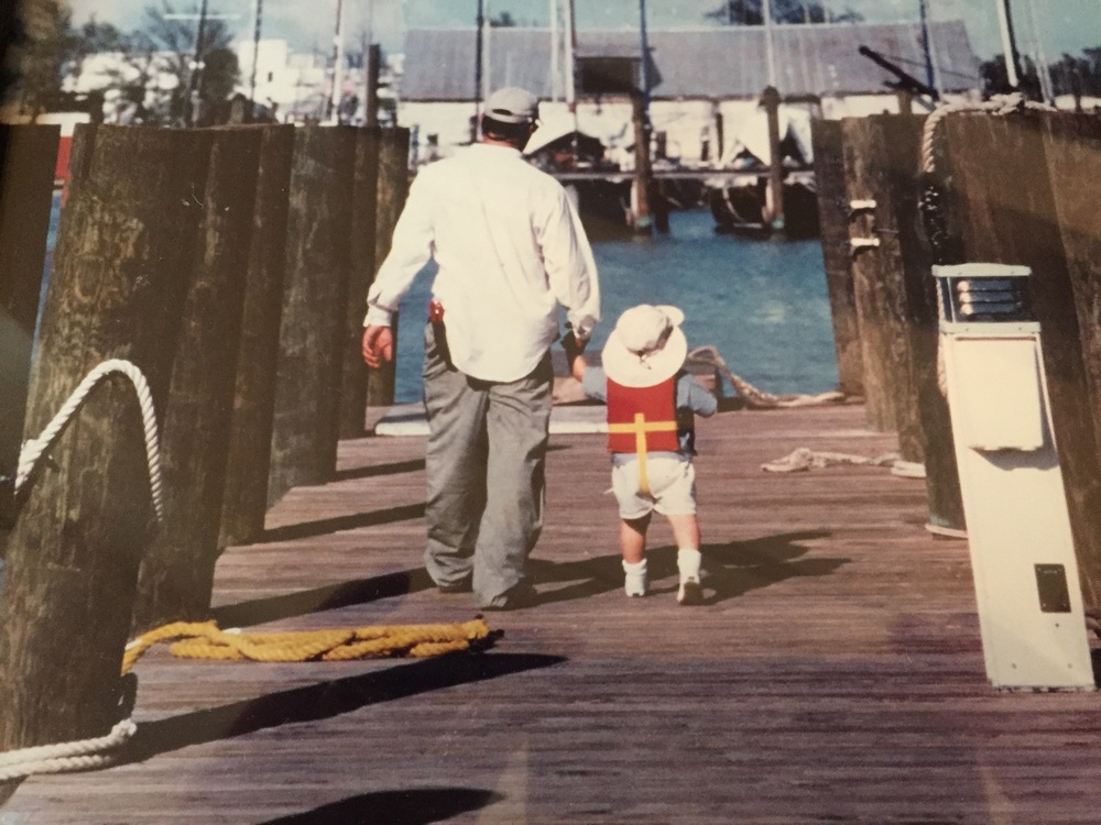 Still reeling that Turner turned 18 yesterday. Cant believe it. This is me and him in 1999 walking to the skiff. One of my favorite pictures