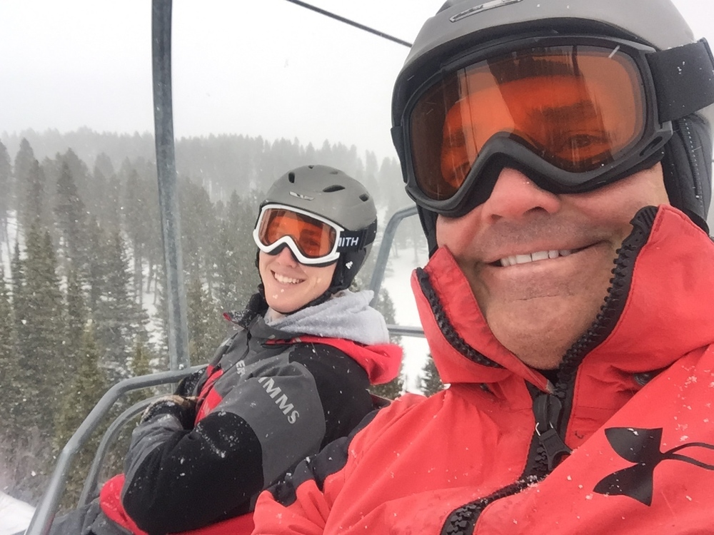 Skiing at Bridger Bowl