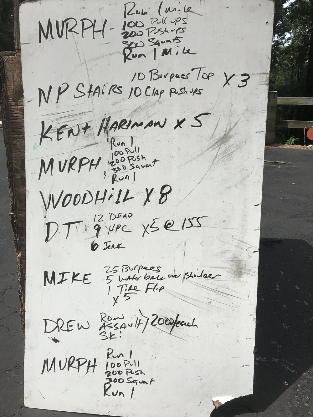 Our 2017 Memorial Day Workout to honor those who served and sacrificed and to wish Mike Drew well on his future endeavors