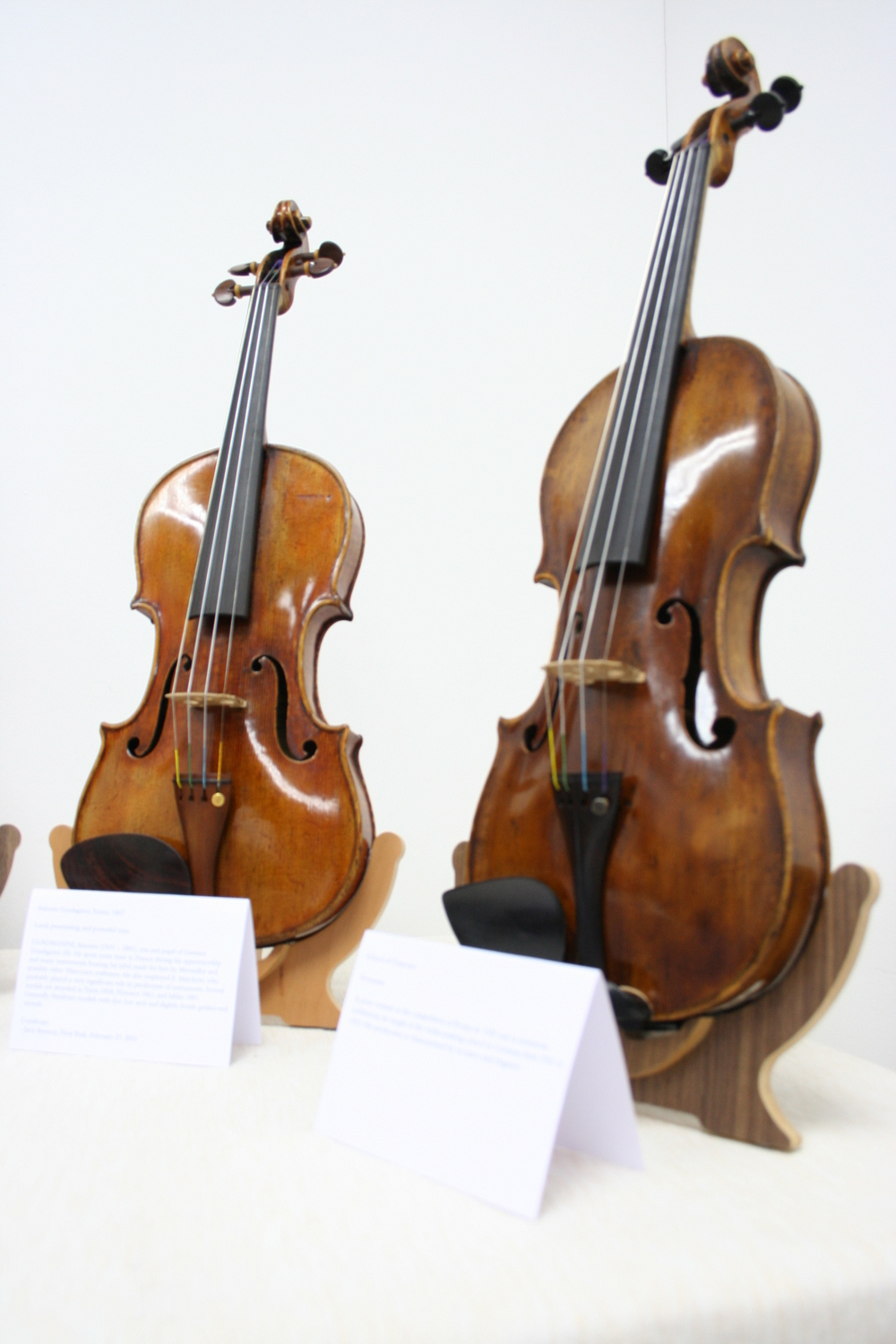 A Guadagnini and a Grancino, just 2 of the violins showcased