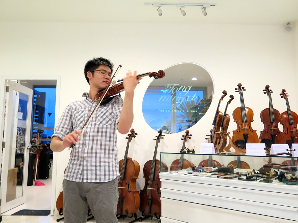 Our violinist for the night, Alan Choo