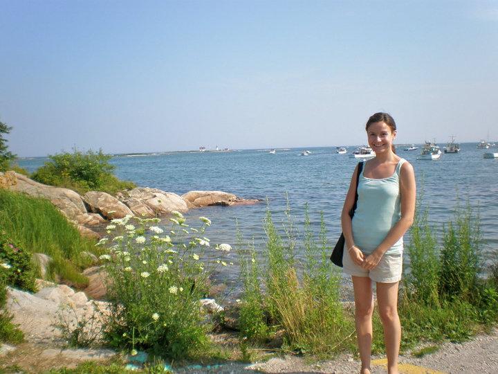 Cape Porpoise Harbor (tank and shorts: J.Crewtote:Esprit)