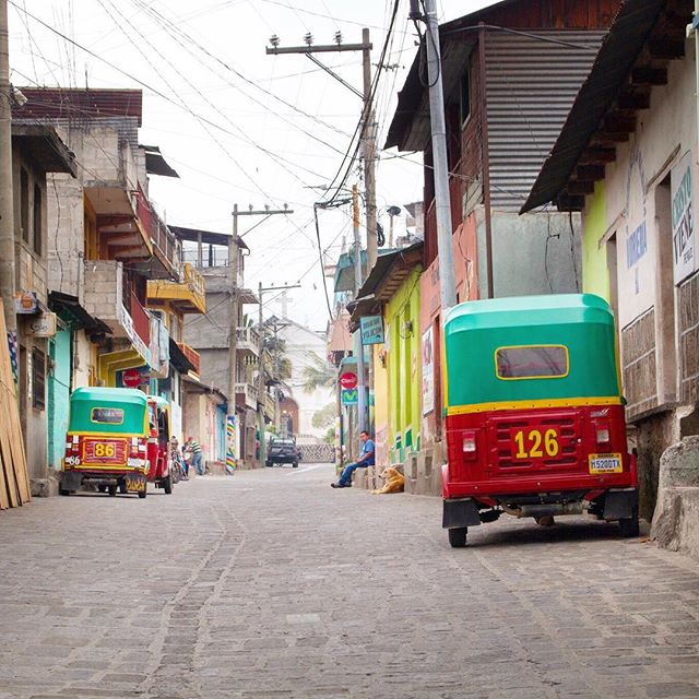 If ferries aren't your thing, you can easily find a tuk tuk driver to take you between several of the villages surrounding #LakeAtitlán. Aren't #tuktuks just the cutest mode of transport in the world? I always find an excuse to ride in one when I'm traveling ☺️ #tbt