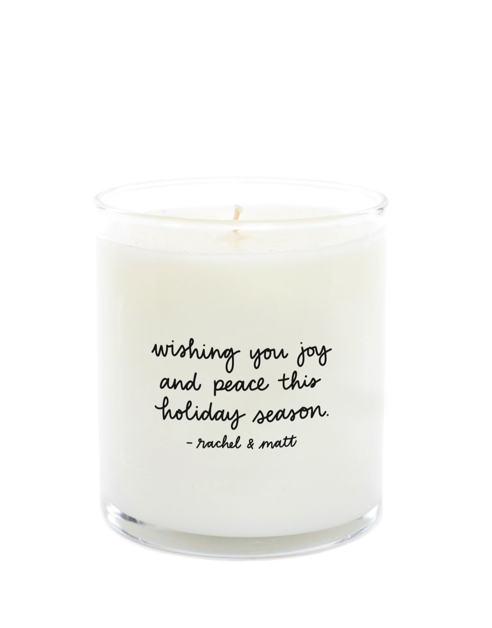 Show your loved ones you care by writing a special message on a  personalized candle by The Little Market