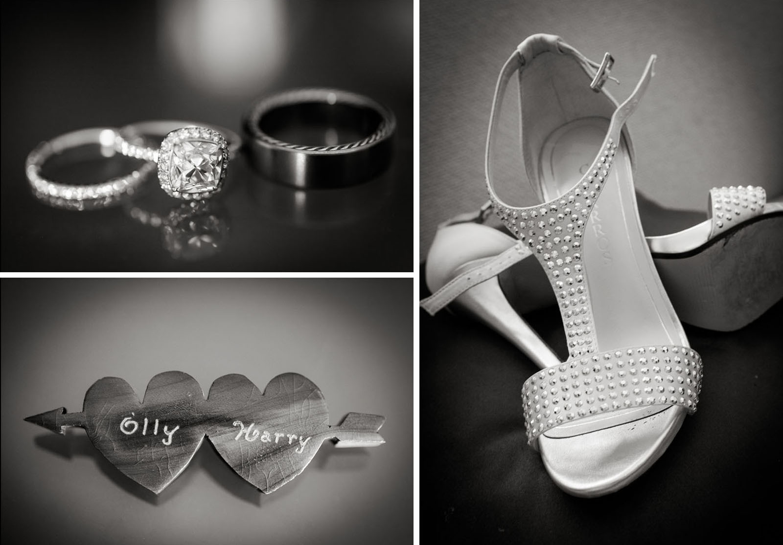 Wedding rings by Marisa Perry, Shoes by Caparros