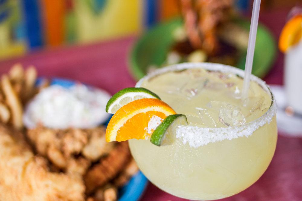 Margaritas at Jack Mackerel's in Kure Beach, North Carolina