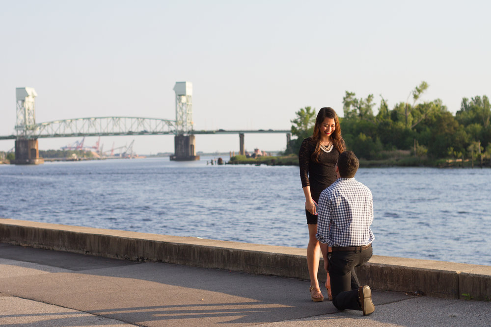 Downtown Wilmington NC Engagement Shoot