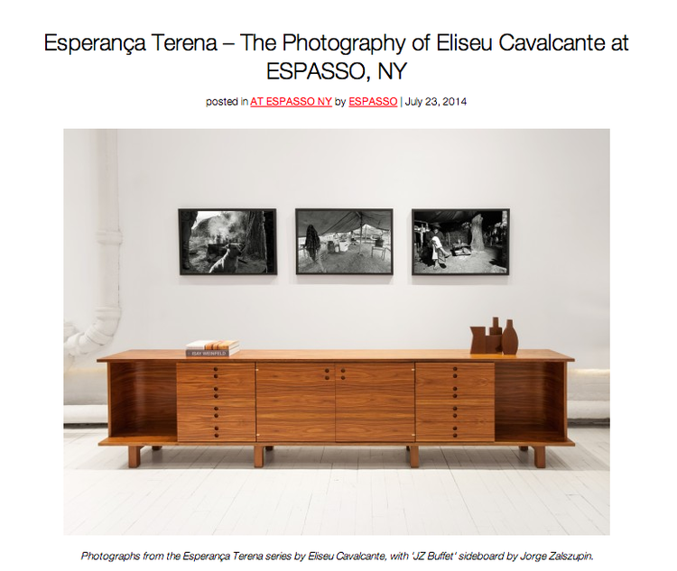 July 2014 - Esperança Terena – The Photography of Eliseu Cavalcante at ESPASSO, NY