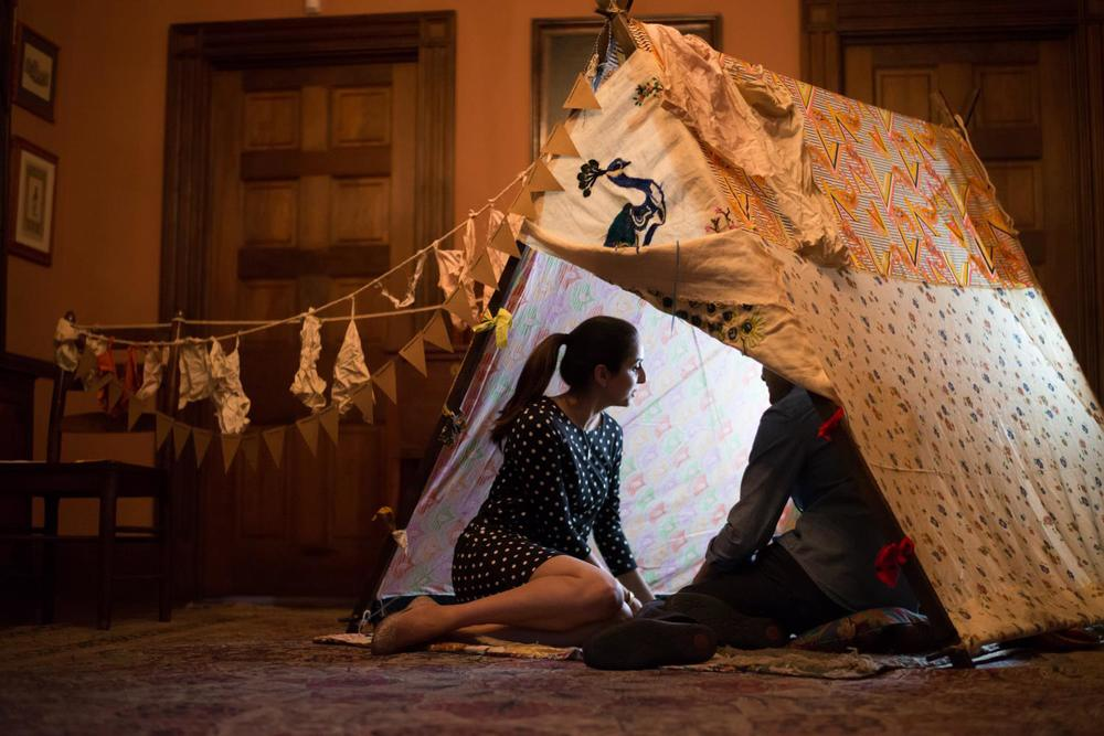 Our stop motion short, Tale #87: Heathcliff, featured at the Historic Campbell House Museum.  SummerWorks Launch 2014. Tent: Roxanne Ignatius, Video: Sarah Fairlie, Story and Narration: Erin Fleck