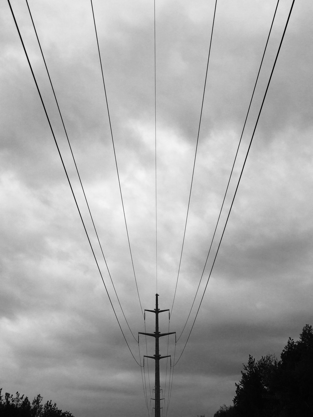Power lines, Quebec City, May 2017
