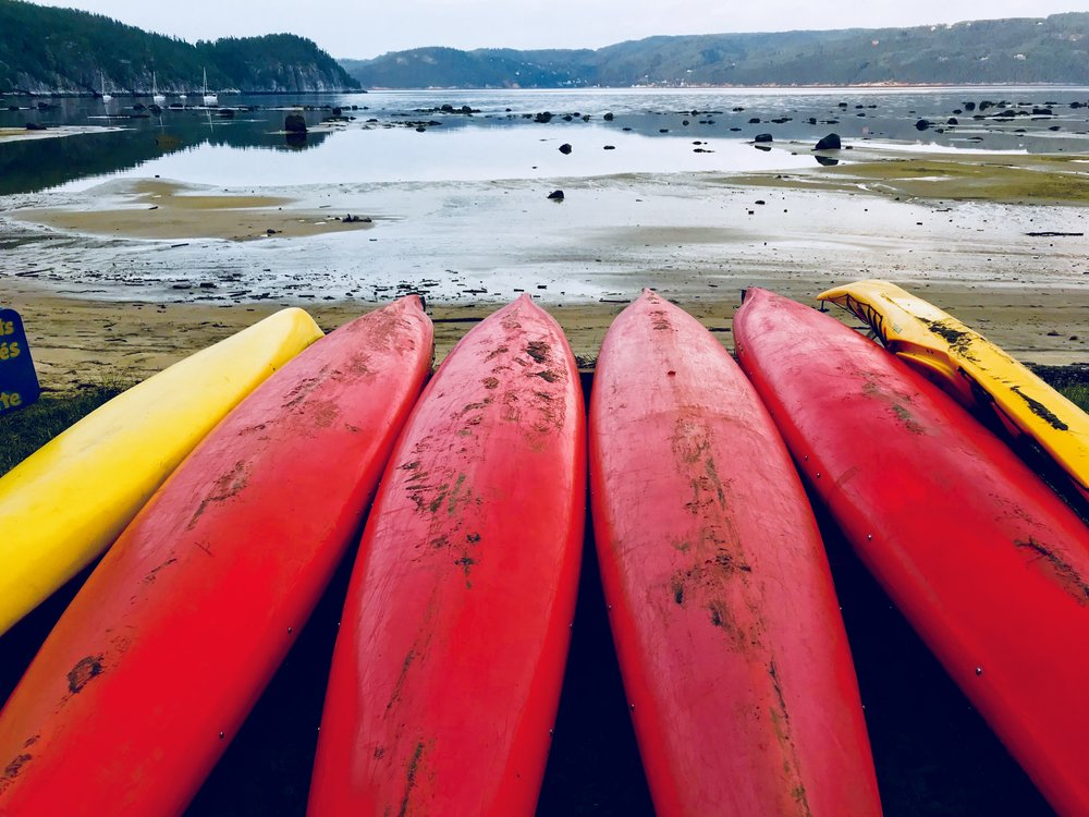 Canoes In Saguenay, Saguenay River, August 2017