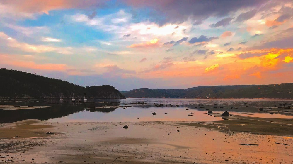 Sunset River, Saguenay River, August 2017