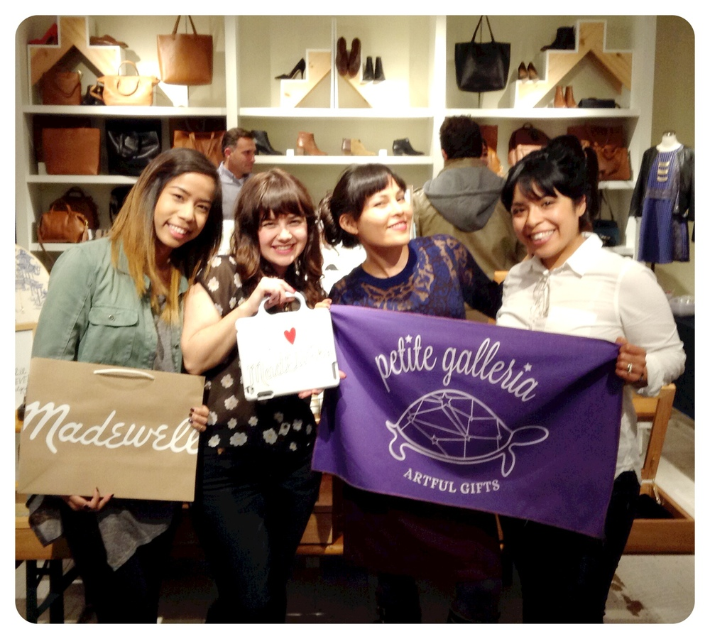 "April Gee and Amanda Rawson from Petite Galleria, having a ""handmade"" pop-up at the Madewell store on Santana Row, San Jose"