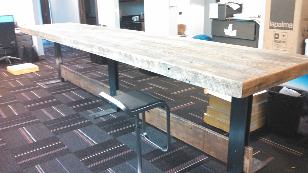 Dining Conference Tables Reclaimed Wood Furniture Square Nail - Old conference table