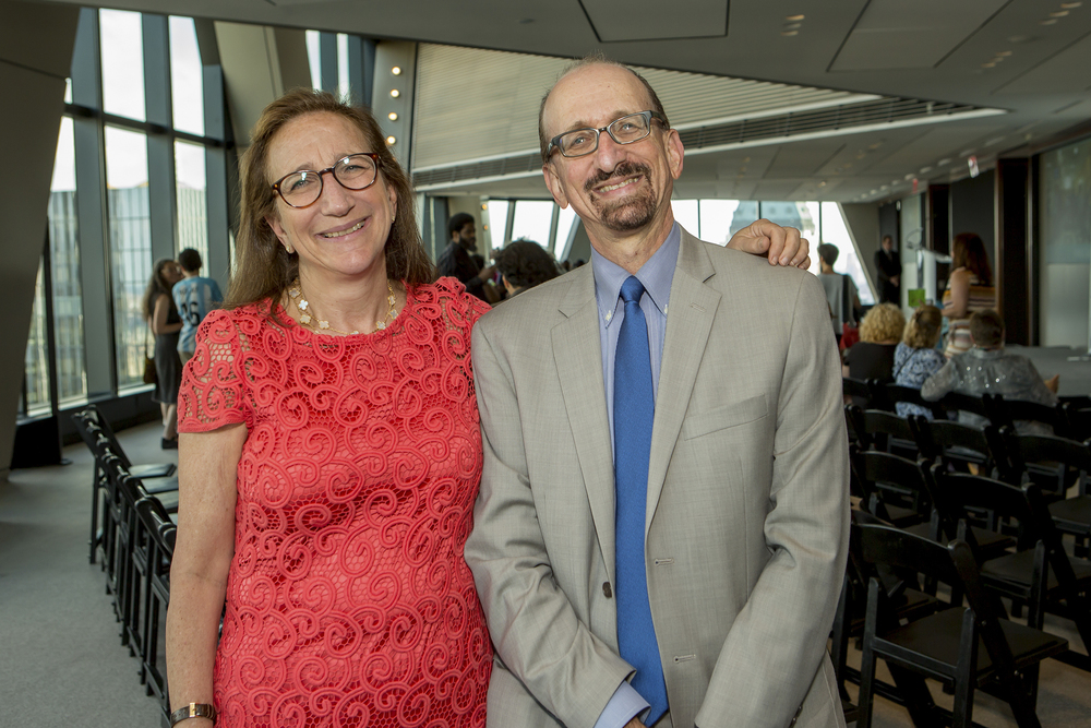 Julie Sandorf, President of the Charles H. Revson Foundation and Brian Lehrer, host of WNYC's The Brian Lehrer Show