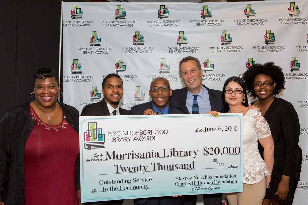 Staff Members of the Morrisania Library and Tony Marx, President and CEO of the New York Public Library