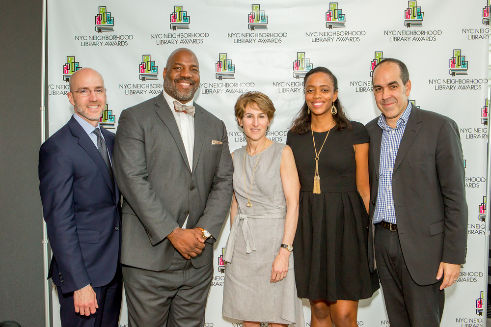 Judges of the 2016 Library Awards: Peter Hatch, Jelani Cobb, Stacy Schiff, Angela Flournoy, and Richard Reyes-Gavilan