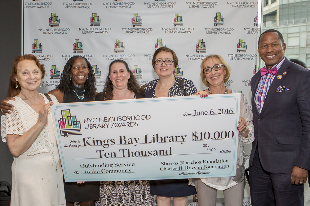 Staff and Patrons of the Kings Bay Library and Council Member Andy King