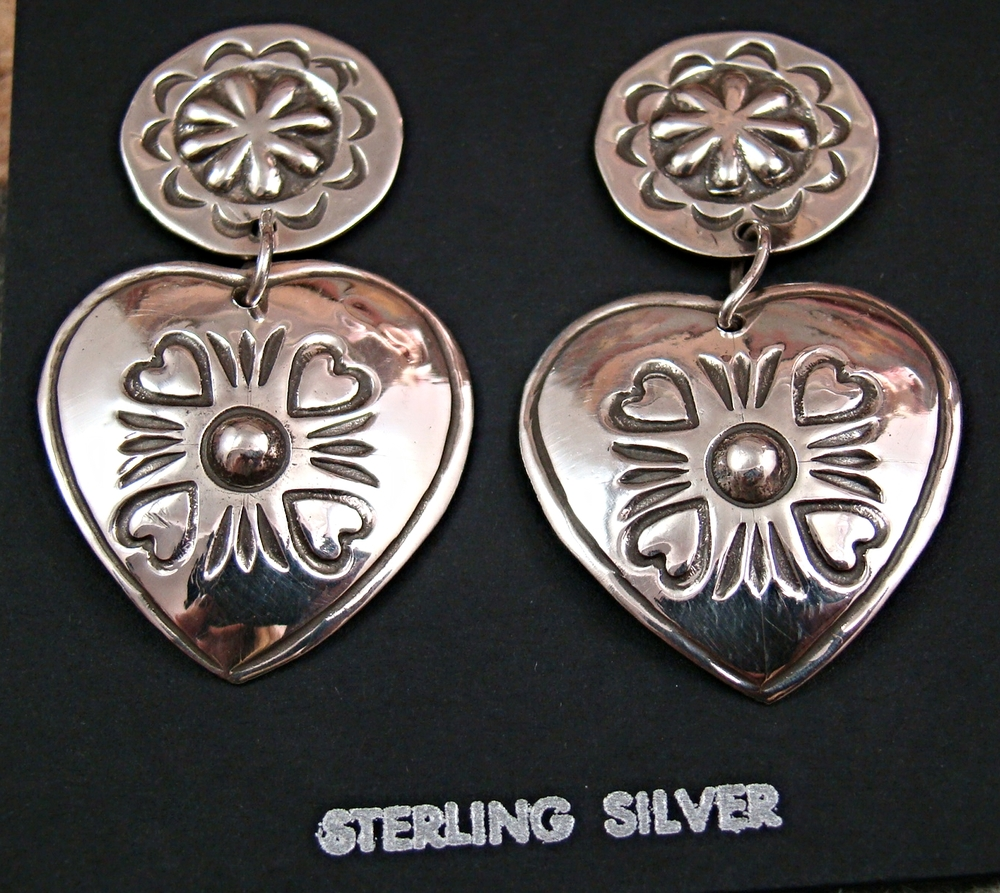 bc1b2bdfb Native American Silver & Gold Earrings- EAGLE ROCK TRADING POST ...