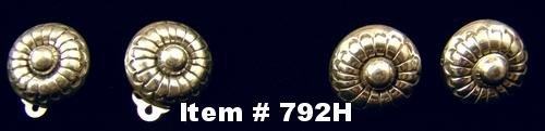 Navajo Hollow Flower Stamped Earrings