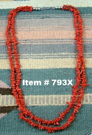 Vintage Double Strand Branch Coral Necklace