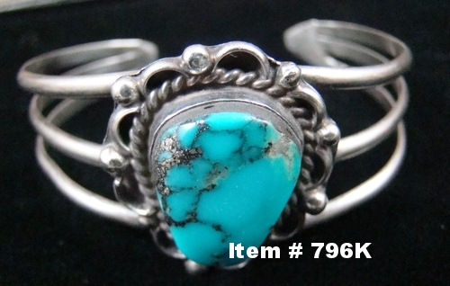 Vintage Navajo Turquoise Decorated Bracelet
