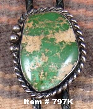 Vintage Green Royston Turquoise Bolo