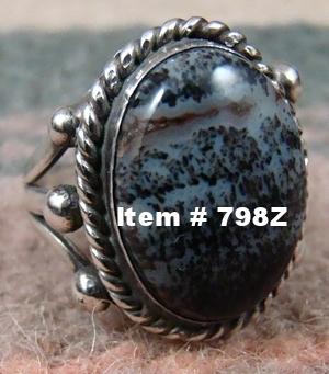 Beautiful Vintage Navajo Western Petrified Wood Ring Sz 8