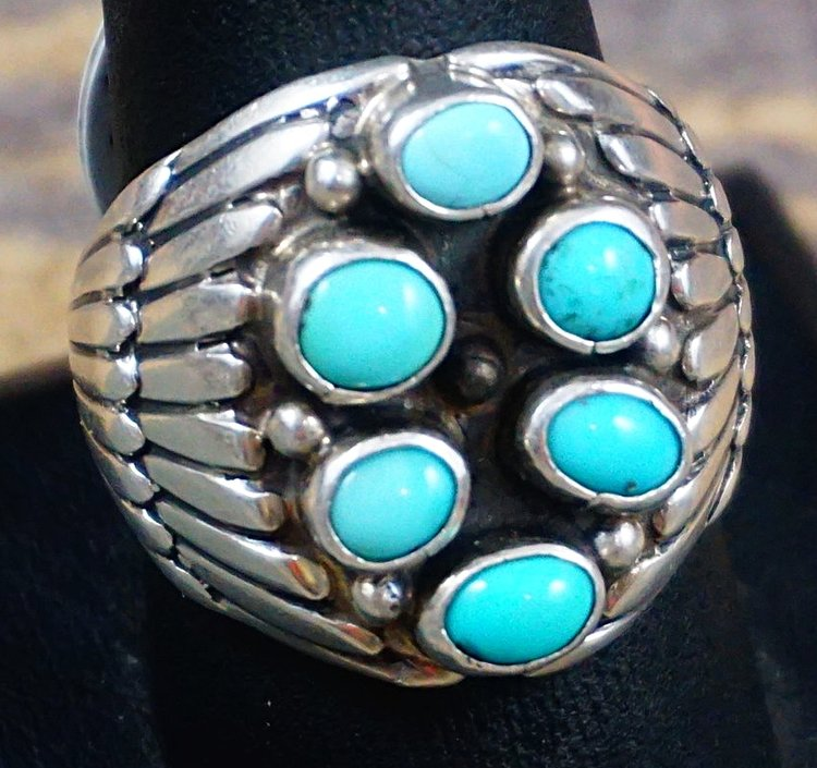 Men S Native American Turquoise Rings Eagle Rock Trading Post