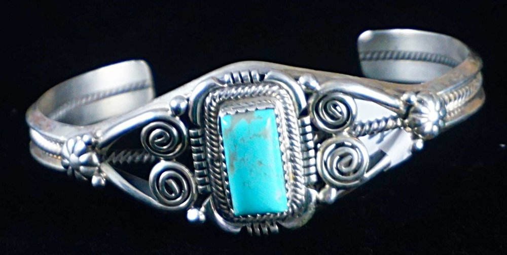 turquoise artist bennett navajo american sleeping jewelry product bracelet beauty ray native by cuff