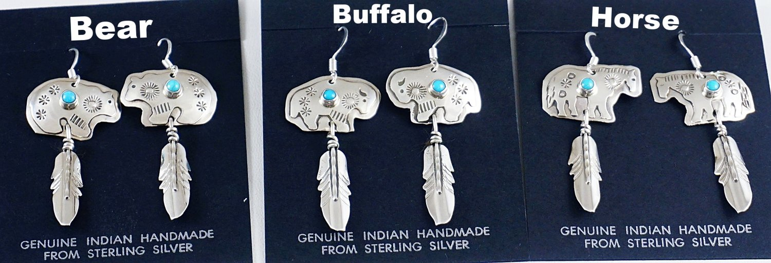 6d6460306 Native American Turquoise Earrings- EAGLE ROCK TRADING POST-Native ...