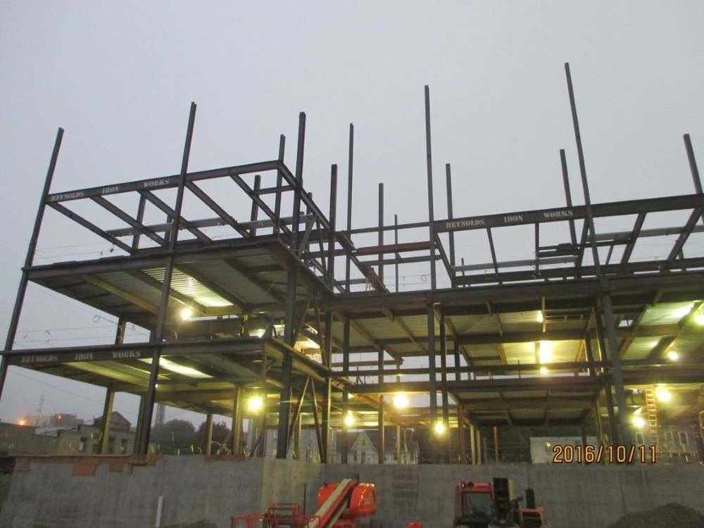 structural steel framing for the new binghamton university of pharmacy in binghamton ny approx