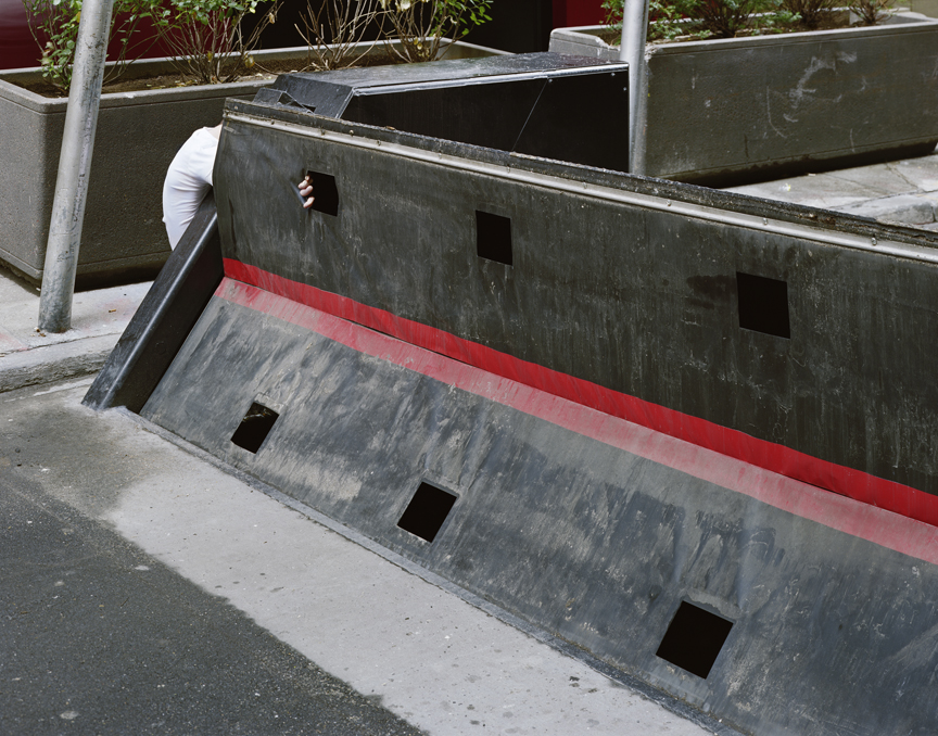 "Untitled (street barrier) from Insertions series chromogenic print 30""x40"" 2007"