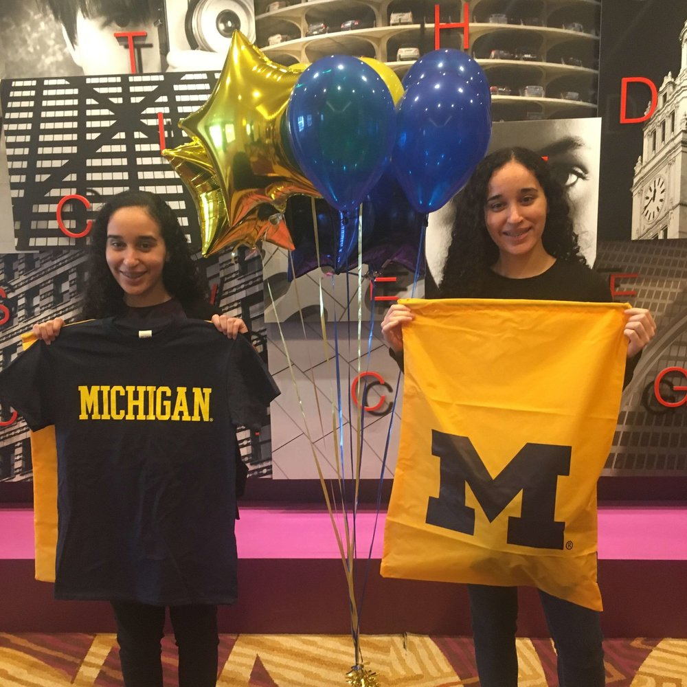 Sarah and Sabrina, Launch U Class of 2018  University of Michigan School of Engineering Class of 2022