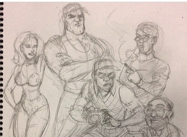 One of Jon's first B-Squad sketches.